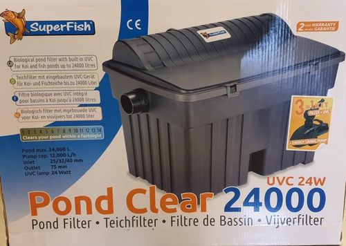 POND CLEAR 24000 KIT+UVC 24W+POND ECO 12.000 l/h